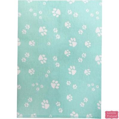 LILY & JACK 英國 天藍小狗腳印款底層防水多功能尿布墊