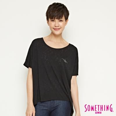 SOMETHING 休閒簡約星星造型T恤-女-黑色