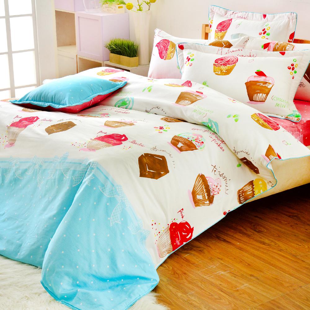 Grace Life 甜蜜夢想 精梳純棉加大涼被床包四件組
