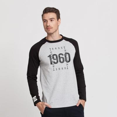 Hang Ten - 男裝 - 有機棉 1960棒球袖T恤 - 灰