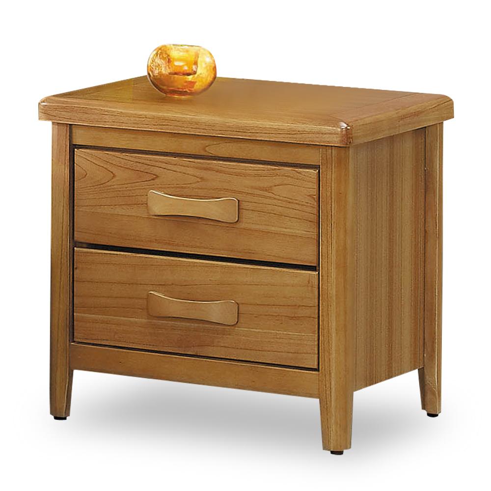 時尚屋 卡斯帕柚木1.8尺床頭櫃 寬54.3x深45x高54cm