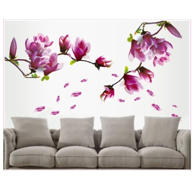 E-002花草系列-浪漫玉蘭花 大尺寸高級創意壁貼 / 牆貼