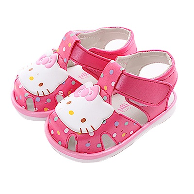 Hello kitty點點寶寶嗶嗶鞋 桃 sk0367 魔法Baby