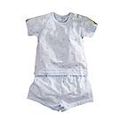 純棉薄款印花短袖套裝 藍 k50649 魔法Baby