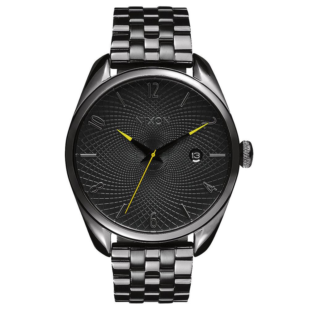 NIXON THE BULLET CHRONO先鋒網紋腕錶-灰亮面43mm