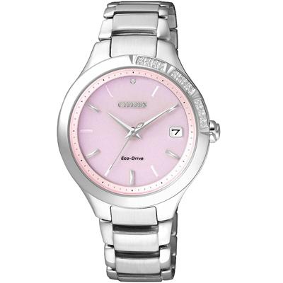 CITIZEN L 系列 光動能精靈時尚設計腕錶(EO1150-59W)-粉/34mm