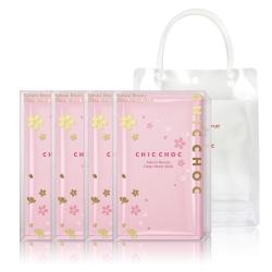 CHIC CHOC 櫻花水潤面膜5片/盒 (4盒團購組)