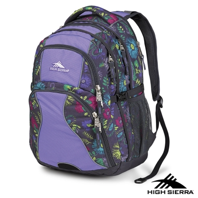 美國 High Sierra 36.5L SWERVE 電腦後背包 花紋/紫丁香