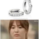 梨花HaNA  韓國太陽的後裔宋慧喬925銀皓石圈飾耳環