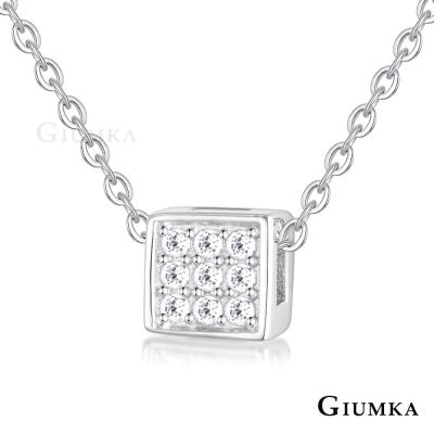 GIUMKA 925純銀項鍊 小方塊 純銀女鍊