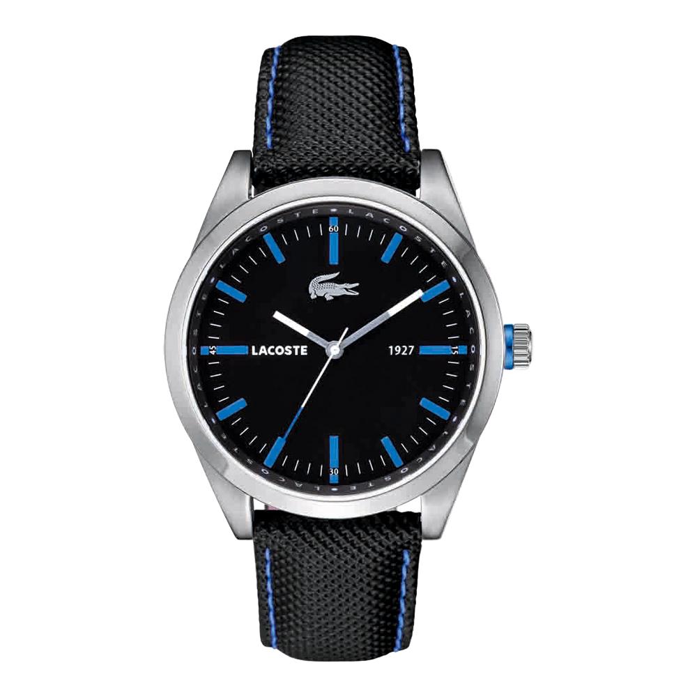 Lacoste 鱷魚 大錶徑型男腕錶-黑/45mm