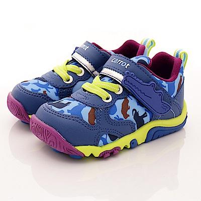 日本Carrot機能童鞋-動物大底款TO1885藍(中小童段)T1#14