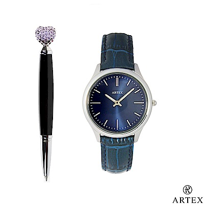 ARTEX 傾訴原子筆+手錶 雙組合/愛心