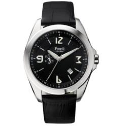 FIBER  軍用風格自動上鍊機械腕錶-黑/44mm