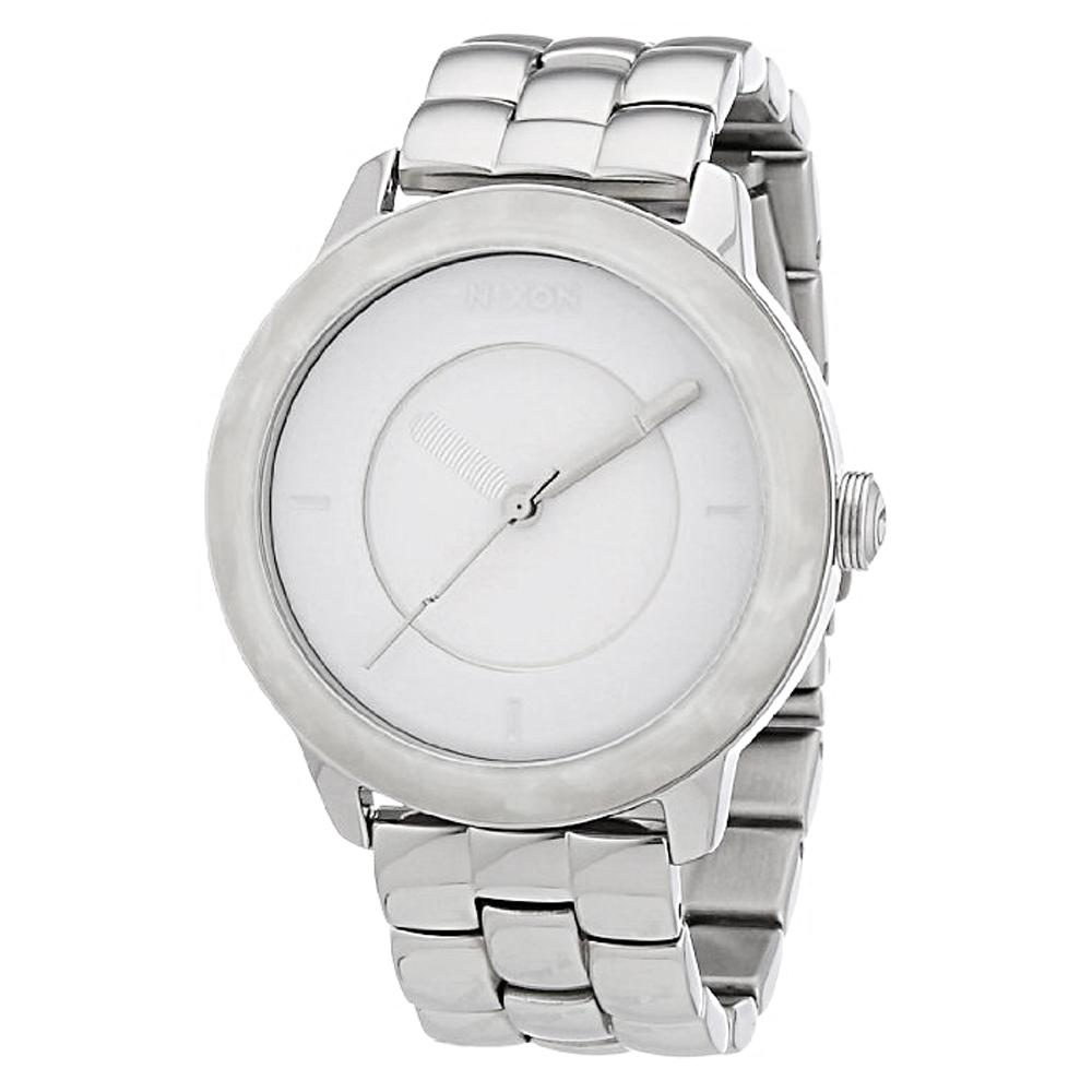 NIXON The DIVVY 幾何個性時尚都會腕錶-銀/39mm