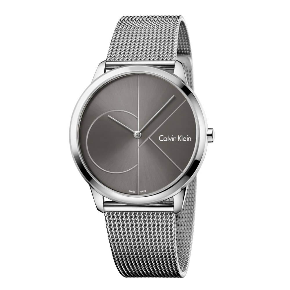 CK CALVIN KLEIN Minimal 系列cK Logo 錶盤米蘭帶中性錶-35mm