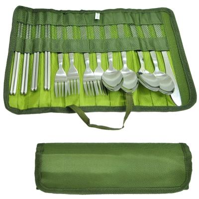 戶外便攜式餐具13件組 /刀叉湯匙筷子 環保餐具 -快速到貨