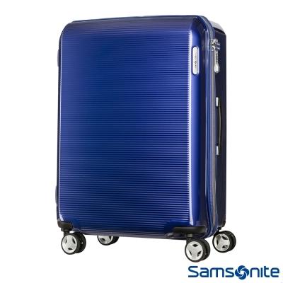 Samsonite 新秀麗 28吋ARQ 2/8開懸吊抗震減音PC硬殼行李箱(深藍)