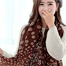 Seoul Show 點點花語 印花巴黎紗圍巾