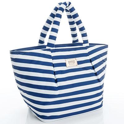 VOVAROVA空氣包-大開口托特包-經典條紋(藍)