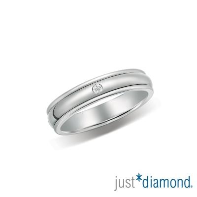 Just Diamond戀人私語男女對戒-窄版(女戒)