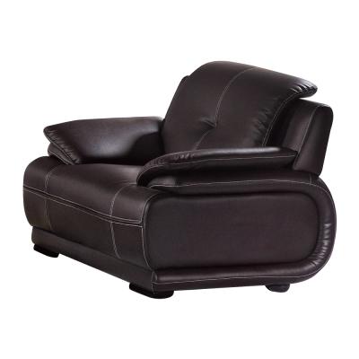 品家居 馬地夫咖啡皮革沙發單人座-115x88x85cm-免組