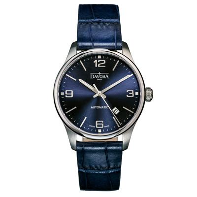 DAVOSA Gentleman 紳士系列經典腕錶-藍/44mm