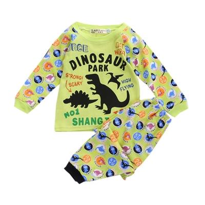 恐龍印花薄長袖套裝 k50255