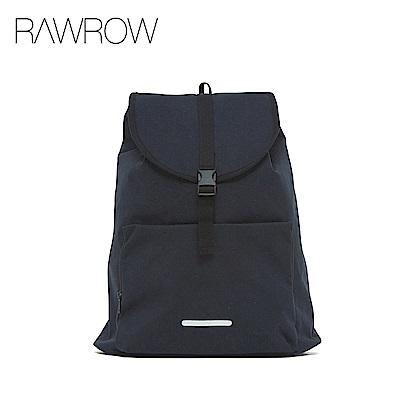 RAWROW-漫遊系列-13吋簡約束口後背包-墨黑-RBP232BK