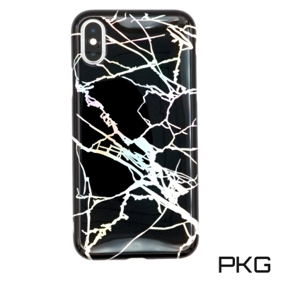 PKG Apple IPhone X 手機套(時尚雷射冰裂紋)