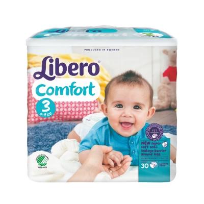 Libero麗貝樂 黏貼式嬰兒紙尿褲(3號M)(30片 / 包)