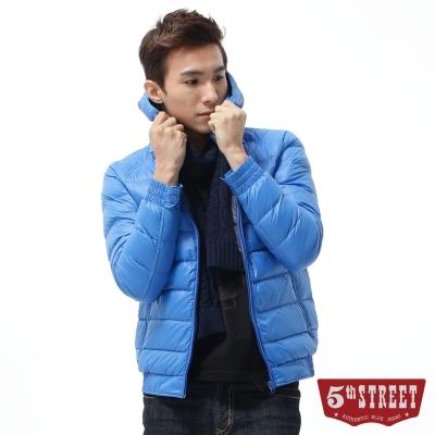 5th-STREET-羽絨-多彩輕量羽絨外套-男-寶石藍