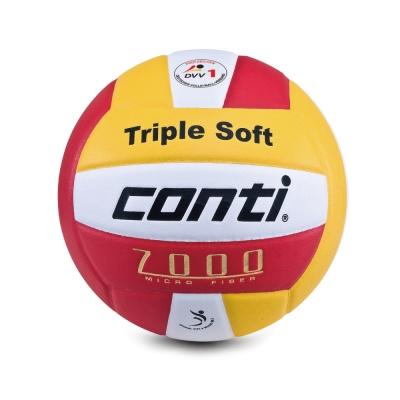 conti 日本超細纖維結構專利排球(5號球) (白黃紅)