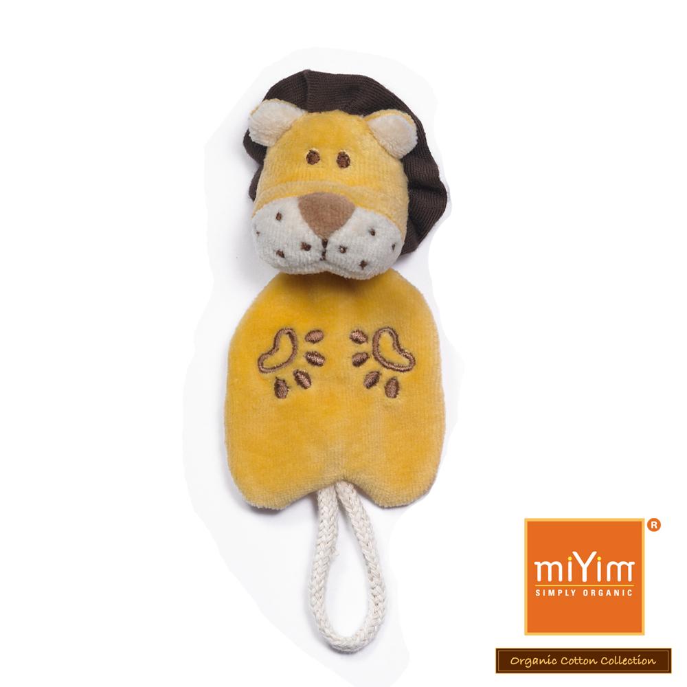 美國miYim有機棉 安撫奶嘴夾-里歐獅子