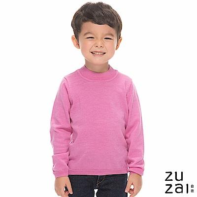 zuzai 自在發熱衣BIELLA YARN童高領羊毛衫-粉紅色