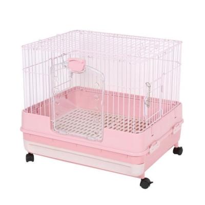 Marukan 豪華挑高抽屜式精緻小動物飼養籠 粉色 MR-995