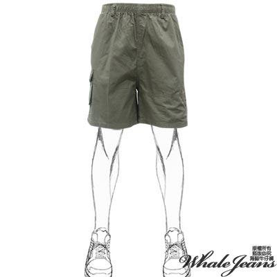 WHALE-JEANS-男款簡風印圖鈕釦口袋中腰休