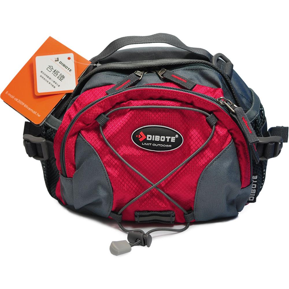 迪伯特DIBOTE多功能戶外休閒腰包背包紅-快速到貨