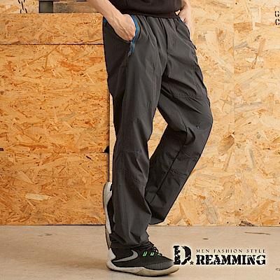 Dreamming 機能款輕薄透氣鬆緊腰登山休閒運動長褲-共二色