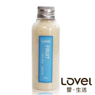 Lovel 天然井鹽/香氛沐浴鹽100g5入組(熱帶水果)