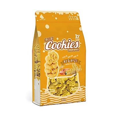 寵愛物語-庫吉斯 愛貓營養間食 貓用魚形餅 鮭魚+起士風味180g(2包組)