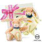 STEIFF德國金耳釦泰迪熊 - 玩偶+安撫巾 探險小兔子 (寶寶禮盒)