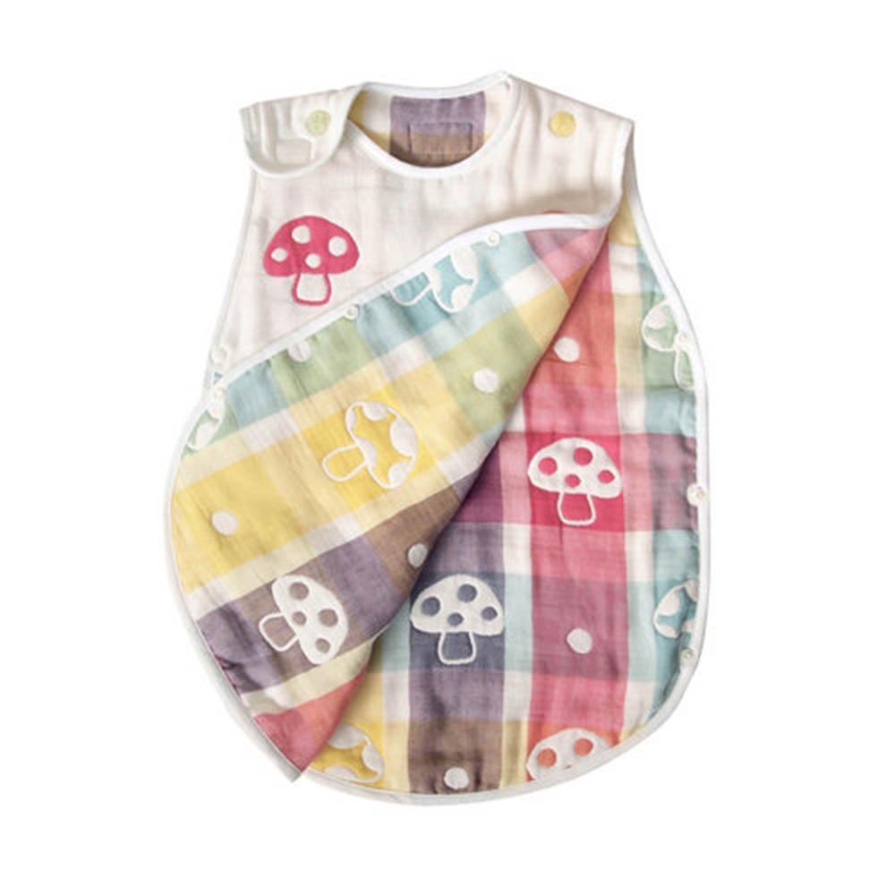 【日本 Hoppetta】 六層紗蘑菇防踢背心 嬰童