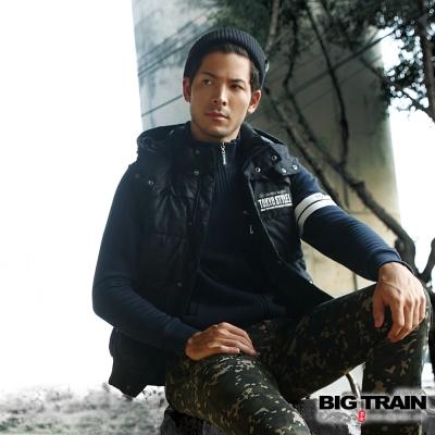 BIG TRAIN 東京黑魂立領外套-男-深藍