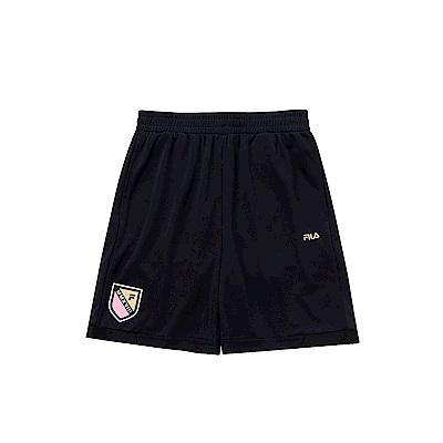 FILA KIDS 男童吸濕排汗短褲-黑 1SHS-4330-BK