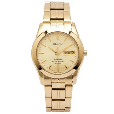 SEIKO 尊貴極簡風手錶(SGGA62P1)-黃色面X金色/36mm