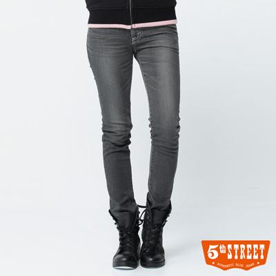 5th STREET 沉穩定番 1965伸縮窄直筒牛仔褲-女款(淺灰色)