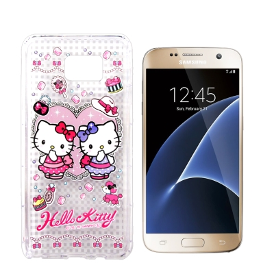 三麗鷗Hello Kitty貓 Samsung Galaxy S7空壓防震殼(T...