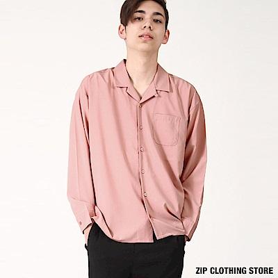 落肩開領襯衫(5色) ZIP日本男裝