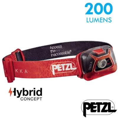 【法國 Petzl】新款 TIKKA 超輕量省電頭燈(200流明)_紅